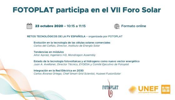 FOTOPLAT participa en el VII FORO SOLAR